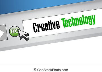 creative technology online sign concept