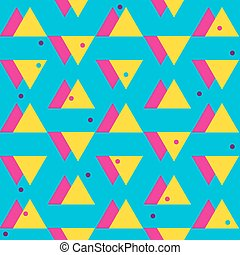 Seamless vintage abstract pattern with triangles in the...