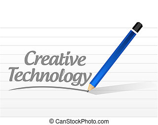 creative technology message sign concept