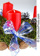 Advent wreath with candles for the Christmas time