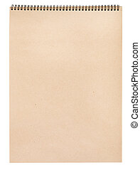 blank kraft paper in art album for graphic drawing isolated...