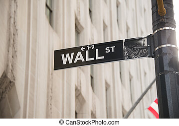 Sign on the Wall Street