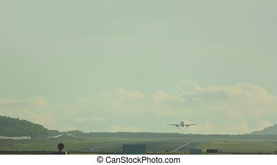 Airbus 320 landing - Airbus 330 landing in Phuket...