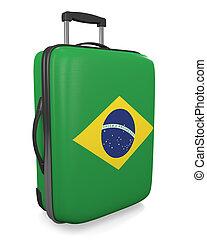 Brazil travel suitcase - Brazil vacation destination concept...