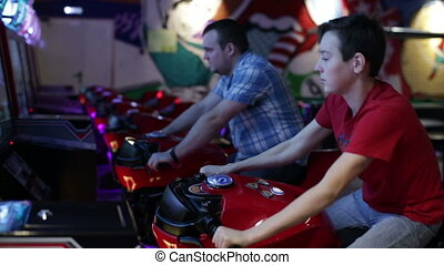 People ride on motorbike simulation game - Slot Machines....