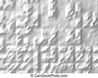 white abstract background randomly generated 3d forms on...