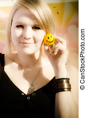 Positive Expression Of Joy And Happiness - Soft Portrait Of...