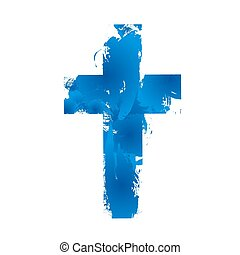 Christian cross sign - Simple Christian cross sign, isolated...