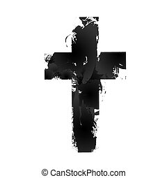 Christian cross sign - Simple Christian cross sign, isolated...