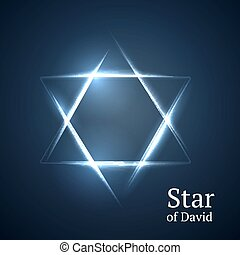 star of David - Abstract background star of David
