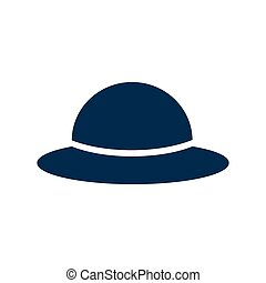 flat icon on white background women and 39;s hat - flat icon...
