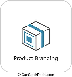 Product Branding Icon. Flat Design.