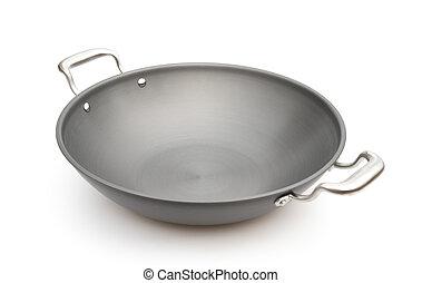 wok on a white background