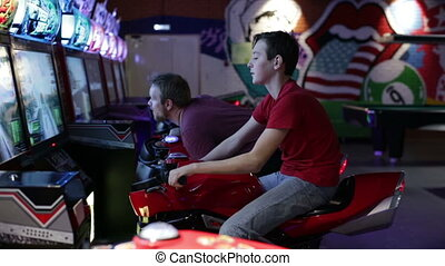 Brothers ride on motorbike simulation game - Slot Machines....
