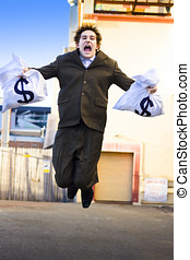 Business Man Winning Business Deals - Excited And Overjoyed...