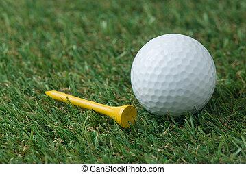 Kugel, golfen,  tee