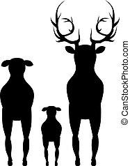 Cartoon Deer Silhouette