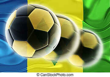 Flag of Saint Vincent and Grenadines wavy soccer - Flag of...