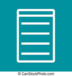 Invoice, bill, receipt icon vector imageCan also be used for...