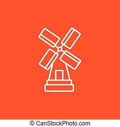 Windmill line icon - Windmill line icon for web, mobile and...