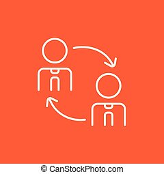 Staff turnover line icon. - Staff turnover line icon for...
