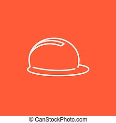 Hard hat line icon - Hard hat line icon for web, mobile and...