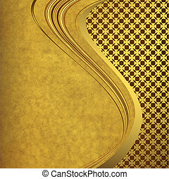 Old paper with elegance golden lines - Old paper with...