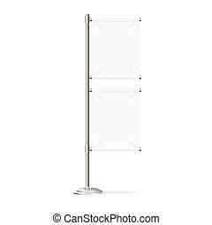 Blank Banner Flag Stand. Vector