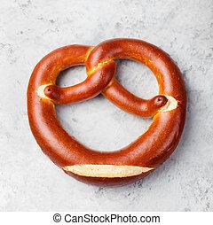 Freshly baked soft pretzel from Germany