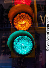 traffic lights - Close up of traffic light