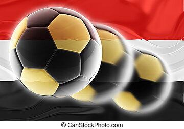 Flag of Yemen wavy soccer