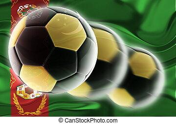 Flag of Turkmenistan wavy soccer