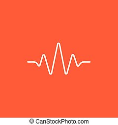 Sound wave line icon - Sound wave line icon for web, mobile...