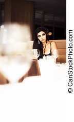 Being Stood Up - Stunning But Lonely Woman Waits In Vain At...