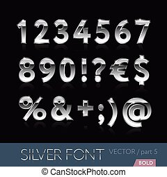 Luxury silver bold font - part 5