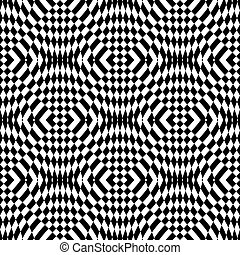 Design seamless monochrome checkered background. Abstract...