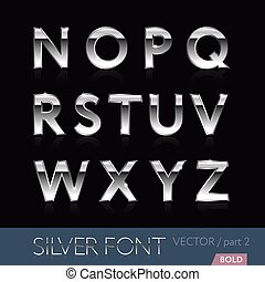 Luxury silver bold font - part 2