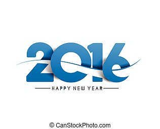 Happy new year 2016 Text Design, vector Illustration