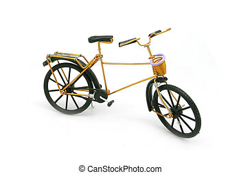vintage gold bicycle model for decoration
