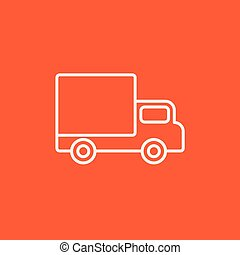 Delivery van line icon - Delivery van line icon for web,...