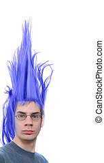 Purple Hair Dude - Crazy wacky young male Caucasian adult...