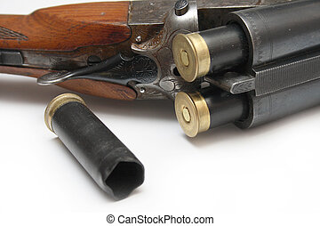 hunting rifle - Shot and charged a hunting rifle