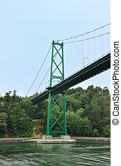 Lions Gate Bridge, Vancouver, British Columbia, Canada,...