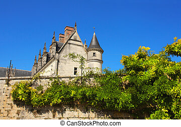 Chateau de Amboise medieval castle, Loire Valley, France...