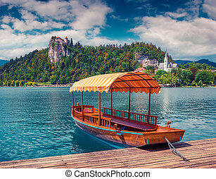 Lake Bled (Blejsko jezero) is a glacial lake in the Julian...