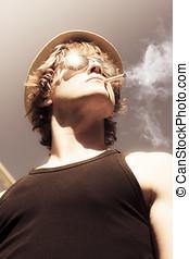 Samiec, Blask, wzór, palenie, Tobaco,