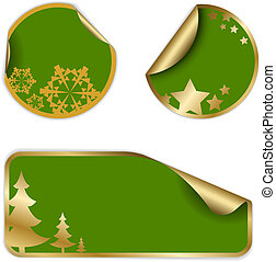 Christmas labels and stickers