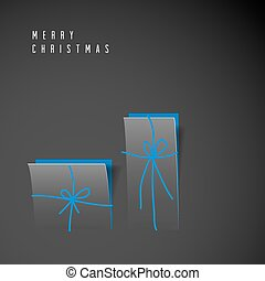 Vector minimalistic Merry Christmas card
