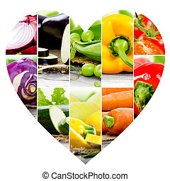 Vegetable Heart slices
