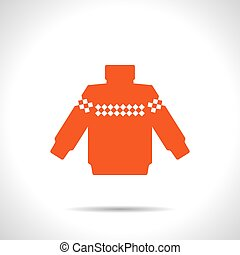 Vector christmas icon. New year illustration. Pullover